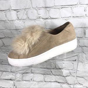 Steve Madden beige loafers